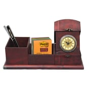 Quickway Imports Antique Wood Desk Organizer