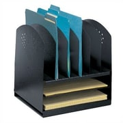 Safco Products Combination Desk Rack 6 Upright/ 2 Horizontal