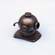 Handcrafted Nautical Decor 3'' Antique Copper Decorative Divers Helmet Paperweight; Antique Copper