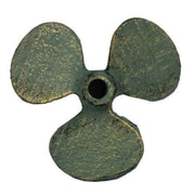Handcrafted Nautical Decor Propeller Paperweight; Antique Bronze