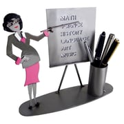 H & K SCULPTURES Teacher Female Pen Holder