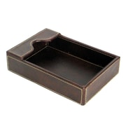 Wayborn Cigar Room Leather Covered Tray