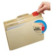 Avery Priority Flag File Folders; Manila