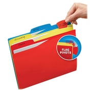 Avery Priority Flag File Folders; Assorted