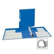 AVERY-DENNISON Heavy-Duty Vinyl EZD Ring Reference Binder, 1-1/2in Capacity; Blue