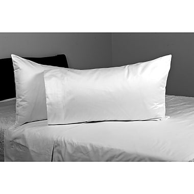 Hypoallergenic Jumbo Pillow, 200 Thread Count, Poly/Cotton, Standard, 2/Pack