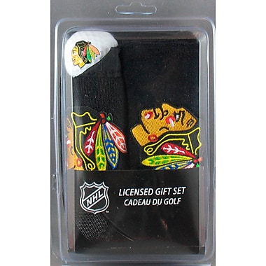 NHL Towel 3 Balls and Ball Pouch Gift Set, Chicago Blackhawks