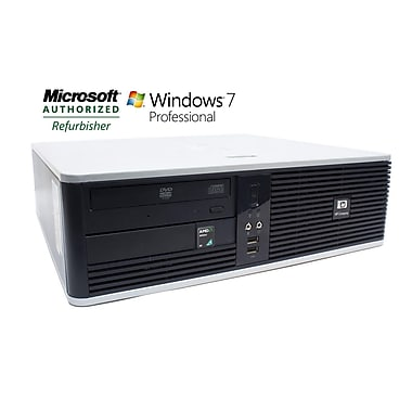 HP Compaq Refurbished Desktop (DC5750 SFF), AMD Athlon 64X2 Dual-Core 3800, 4GB RAM, 250GB HDD, Win 7 Pro 64-bit, English