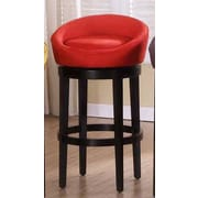 Armen Living Igloo 30'' Swivel Bar Stool; Red