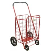 Trimmer 42'' Shopping Cart with Rounded Handle; Red