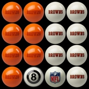 Imperial 16 Piece NFL Billiard Ball Set; Cleveland Browns