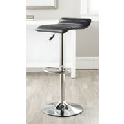 Safavieh Kemonti Adjustable Height Swivel Bar Stool with Cushion; Black