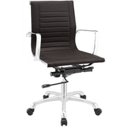 Modway Runway Mid-Back Office Chair; Brown