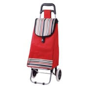 ATH Home 33'' Lightweight Rolling Shopping Cart; Red