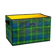 Scout Breaking Plaid Junque Trunk Collapsible Open Rectangular Storage Bin