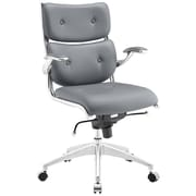 Modway Push Mid-Back Office Chair; Gray