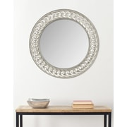 Safavieh Braided Chain Wall Mirror; Pewter