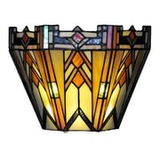 River of Goods Mission Style Stained Glass Wireless LED Wall Sconce
