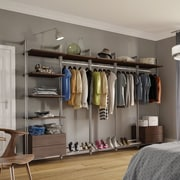 Space Pro Relax 127''W Closet System; Tuxedo