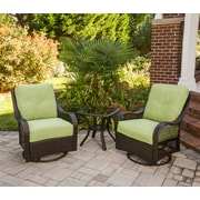 Hanover Outdoor Orleans 3 Piece Deep Seating Group with Cushions; Avocado Green