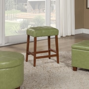 HomePop 24'' Bar Stool with Cushion; Moss Green