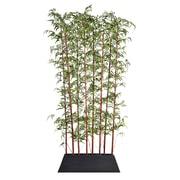 """Laura Ashley 96"""" Tall Burgundy Bamboo Screen in Pot (VHA102434.KD)"""