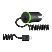 Belkin ™ 10 W Car Charger with Lightning Cable, Black (F8J074BT)