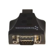 Brainboxes 1-Port USB to RS232 Isolated Industrial High Retention Data Transfer Adapter, Black (US-159)