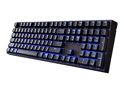 Cooler Master SGK-4060-KKCL1 QuickFire Xti USB Wired Mechanical Gaming Keyboard, Black\/Blue