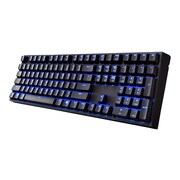 Cooler Master® SGK-4060-KKCL1 QuickFire Xti USB Wired Mechanical Gaming Keyboard, Black/Blue