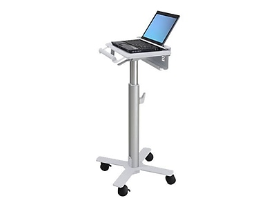 Ergotron StyleView 12 1\/2 Laptop Cart, Aluminum, White (SV10-1100-0)