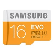 Samsung MB-MP16DC/AM EVO Class 10/UHS-I 16GB microSDHC Memory Card with USB 2.0 Card Reader