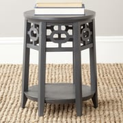 Safavieh Adela End Table; Charcoal Grey