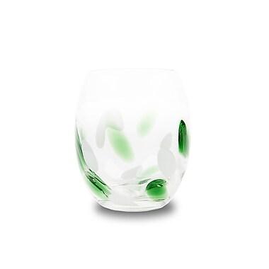 Impulse! Cloud Rock Glass (Set of 4); Orange