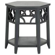 Safavieh Connor Hexagon End Table; Charcoal Grey