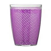 Kraftware Fishnet Double Wall Insulated Tumbler II (Set of 4); Purple