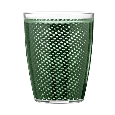 Kraftware Fishnet Double Wall Insulated Tumbler II (Set of 4); Hunter Green
