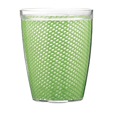 Kraftware Fishnet Double Wall Insulated Tumbler II (Set of 4); Mist Green