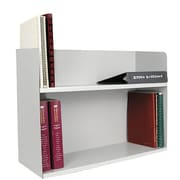 Buddy Products Two Tier Book Rack; Platinum