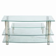 Hazelwood Home TV Stand; Chrome