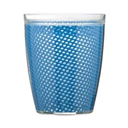 Kraftware Fishnet Double Wall Insulated Tumbler II (Set of 4); Process Blue