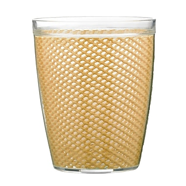 Kraftware Fishnet Double Wall Insulated Tumbler II (Set of 4); Camel
