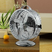 WBM LLC Himalayan Breeze 11'' Table Fan; Silver Chrome