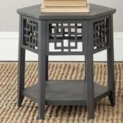 Safavieh Zelda End Table; Charcoal Grey