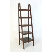 Wayborn Ladder 67.5'' Accent Shelves; Brown