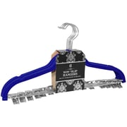 Signature Home Brands Velvet Skirt/Pant Non-Slip Hanger with Metal Clips (Set of 72); Navy