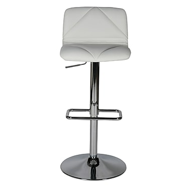 Whiteline Imports Vivo Adjustable Height Swivel Bar Stool; White
