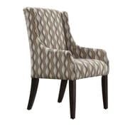 Kingstown Home Mandala Wavy Stripe Print Sloped Arm Chair