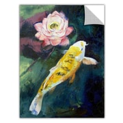 ArtWall ArtApeelz 'Koi and Lotus Flower' by Michael Creese Painting Print; 48'' H x 36'' W x 0.1'' D