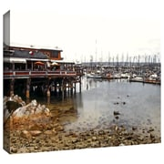 ArtWall 'Old Fishermans Wharf California' by Linda Parker Gallery Wrapped on Canvas; 36'' H x 24'' W
